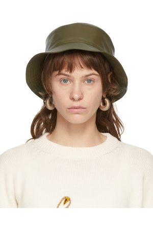 Loewe Dames Hoeden - Khaki Leather Fisherman Hat