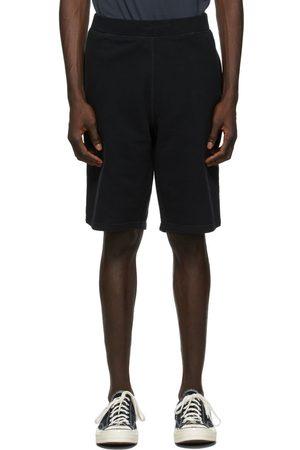 Sunspel Black Loopback Shorts