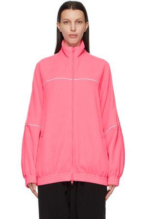 Balenciaga Dames Outdoorjassen - Pink Double-Brushed Fleece Track Jacket