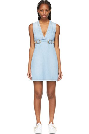VERSACE Dames Korte jurken - Blue Denim Buckle Mini Dress