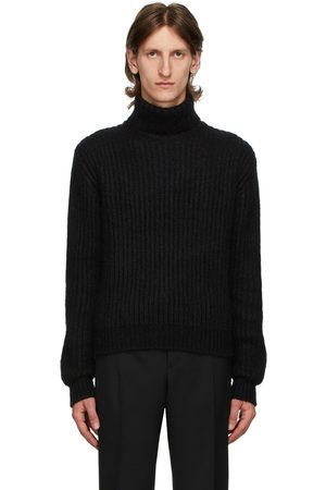 Saint Laurent Black Cashmere & Wool Turtleneck