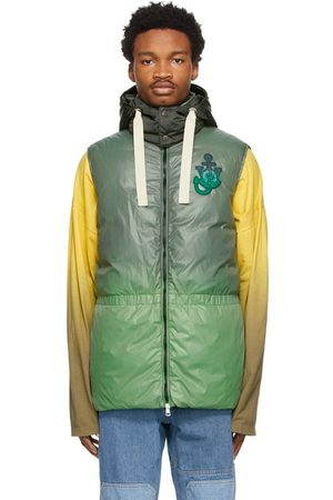 Moncler Genius 1 Moncler JW Anderson Green Down Chesil Vest