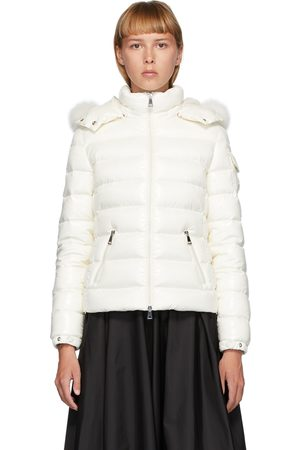 Moncler White Down Badyfur Jacket