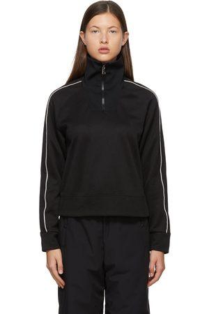 Moncler Black Half Zip-Up Sweatshirt