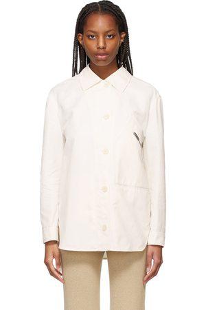 Stella McCartney Dames Donsjassen - Off-White Bailey Button-Up Jacket