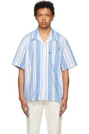Levi's Heren Korte mouw - Blue Stripe Relaxed Camp Short Sleeve Shirt