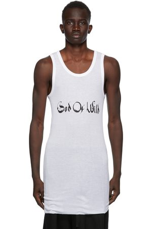 ANN DEMEULEMEESTER Heren Tops - SSENSE Exclusive White God of Wild Chic Tank Top