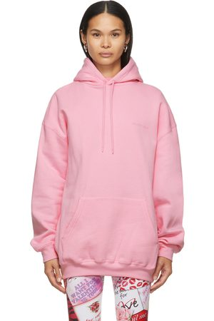 Balenciaga Pink Medium Fit Vintage Logo Hoodie