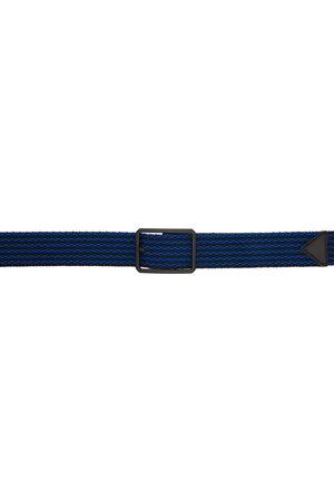 Bottega Veneta Black & Blue Woven Belt