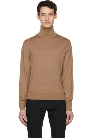 Tom Ford Tan Fine Merino Turtleneck
