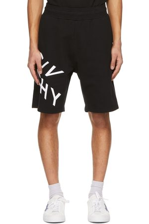 Givenchy Black Embroidered Refracted Logo Shorts