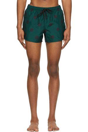 COMMAS Heren Shorts - Blue & Black Spot Short Length Swim Shorts