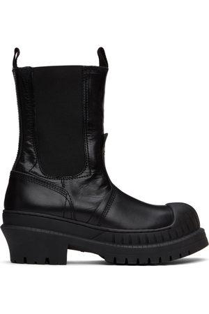 Acne Studios Black Leather Chelsea Boots