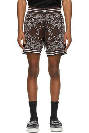 AMIRI Heren Shorts - Brown Bandana B-Ball Shorts