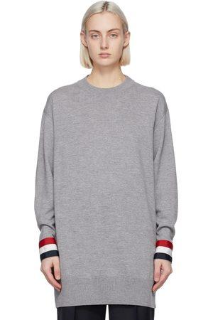 Thom Browne Grey Merino Oversized Fit Sweater
