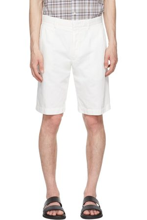 Ermenegildo Zegna White Cotton & Linen Twill Shorts