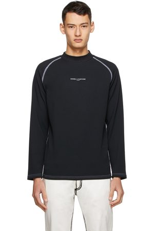 Daniel W. Fletcher SSENSE Exclusive Black Logo Jersey Turtleneck