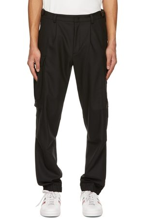 Moncler Heren Cargo's - Black Virgin Wool Cargo Pants