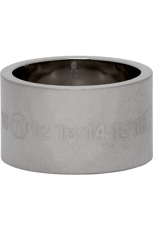Maison Margiela Silver Brushed Chunky Numbers Ring