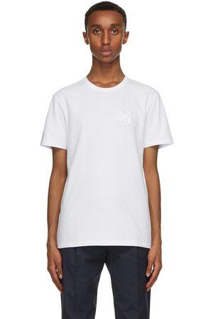 Moncler Heren T-shirts - White Logo T-Shirt