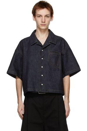 Bottega Veneta Indigo Denim Short Sleeve Shirt