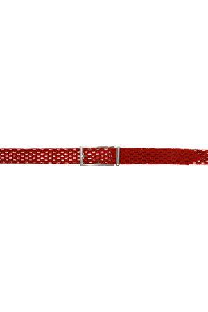 Bottega Veneta Red Macramé Belt