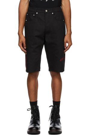 Alexander McQueen Black Organic Stretch Denim Logo Shorts