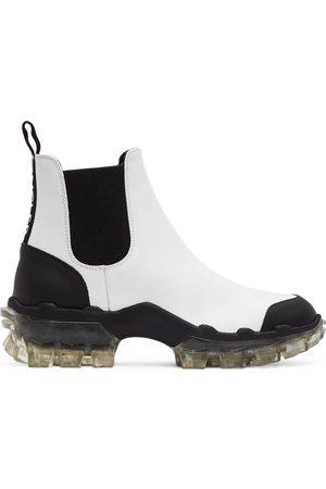 Moncler White Hanya Chelsea Boots