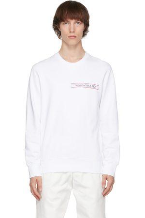 Alexander McQueen White Selvedge Logo Tape Sweatshirt