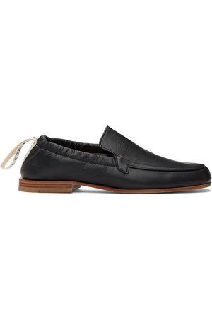 Loewe Heren Pullovers - Black Logo Pull-Tab Loafers