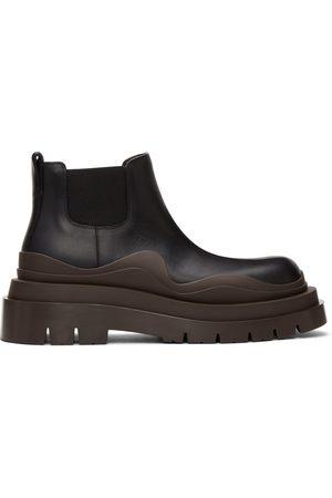 Bottega Veneta Black & Brown Low 'The Tire' Chelsea Boots