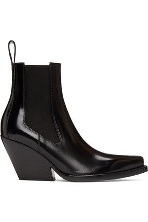 Bottega Veneta Black 'The Lean' Heeled Chelsea Boots