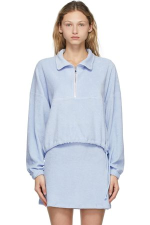 Gil Rodriguez Blue Terry Half-Zip Diana Pullover