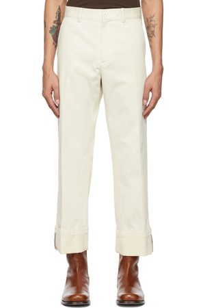 DRIES VAN NOTEN Off-White Cotton Trousers