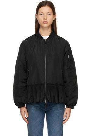 Moncler Dames Bomberjacks - Black Down Mirac Bomber Jacket