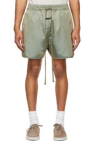 FEAR OF GOD Heren Shorts - Green Nylon Track Shorts