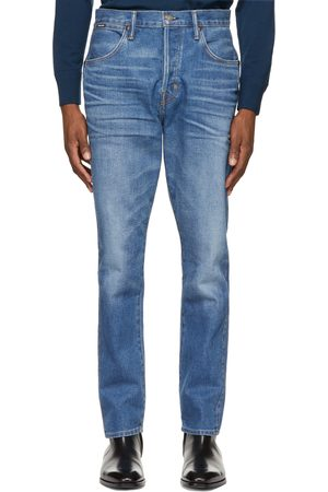 Tom Ford Heren Tapered - Blue Tapered Selvedge Jeans