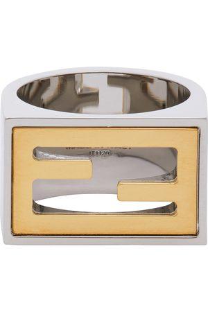 Fendi Heren Ringen - Silver & Gold 'Forever ' Signet Ring