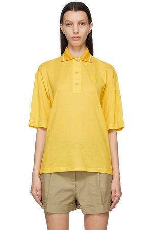Loewe Dames Poloshirts - Yellow Oversized Anagram Polo