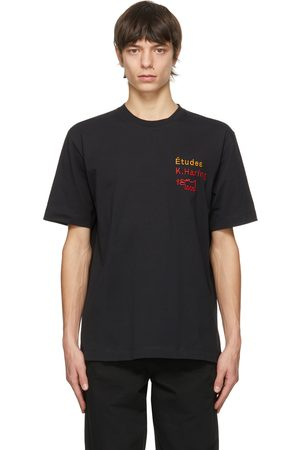 Etudes Heren Ringen - Black Keith Haring Edition Wonder Jumping Dogs T-Shirt