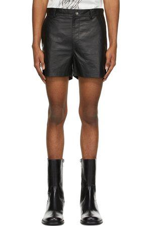 Sean Suen Heren Shorts - Black Sheepskin Shorts
