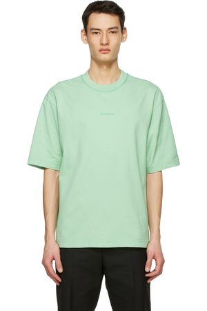 Acne Studios Heren T-shirts - Green Printed T-Shirt