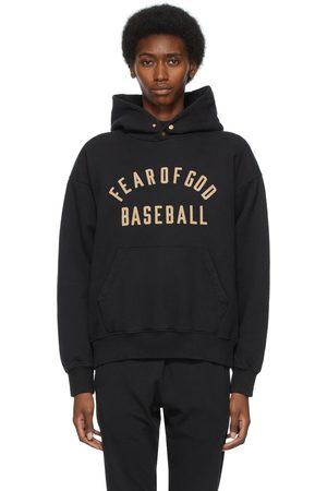 FEAR OF GOD Dames Hoodies - Black 'Baseball' Hoodie