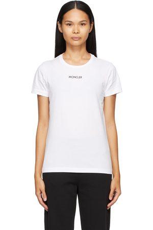 Moncler Dames T-shirts - White Logo Type T-Shirt