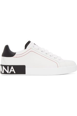 Dolce & Gabbana Heren Sneakers - White & Black Portofino Sneakers
