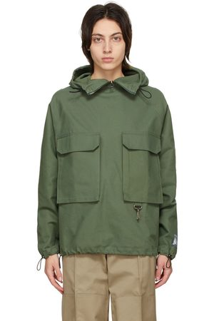 Reese Cooper Green Cotton Canvas Anorak Jacket