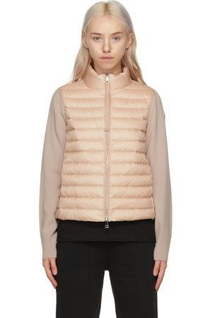 Moncler Pink Down Cardigan Jacket