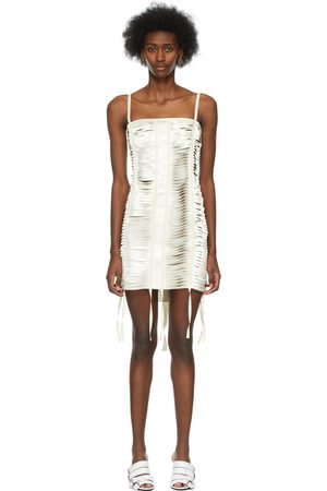 Givenchy Off-White Satin Ribbon Bustier Dress