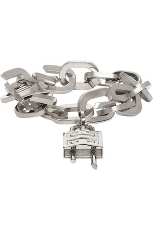 Givenchy Heren Armbanden - Silver G Link Padlock Bracelet