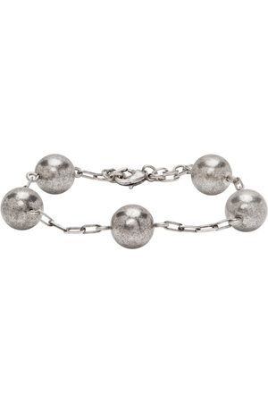 Saint Laurent Heren Armbanden - Silver Beaded Chain Bracelet